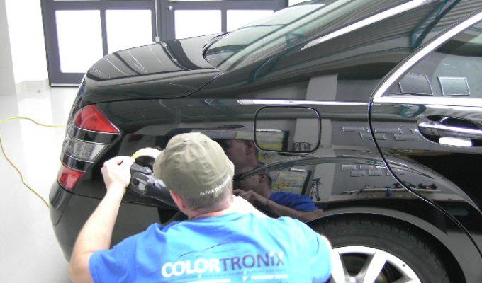 Fahrzeugpolitur detailer finish am lack kratzer hologramme reinigen
